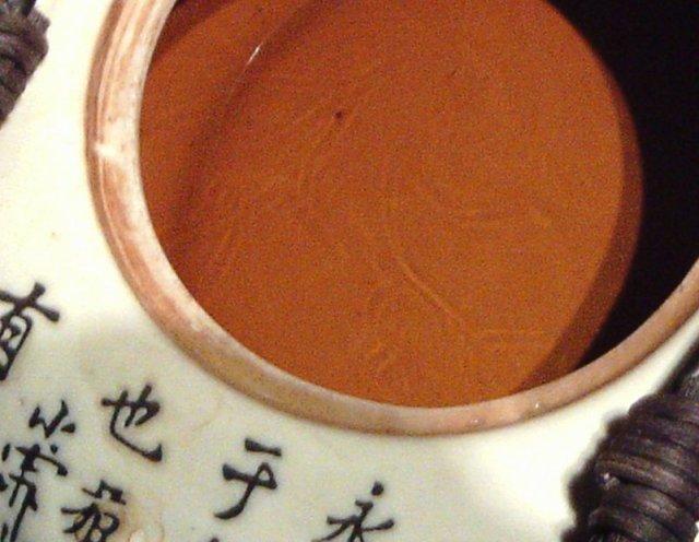 dark oolong in pot