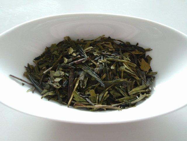 Dragon Well Longjing tea leaves