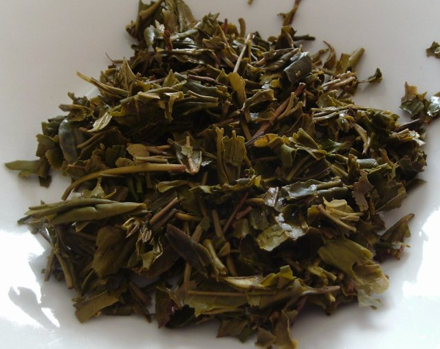 Longjing tea leaves after 6 infusions