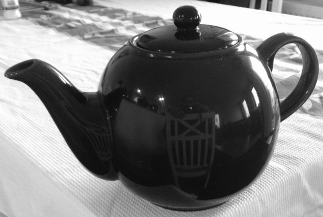 an old school tea pot