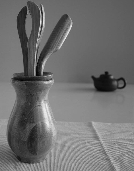 tea tools and yixing pot