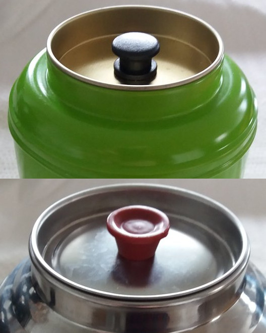 The inner lids of double-lid tea caddies