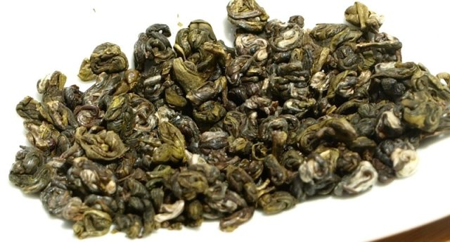 Dry Biluochun tea leaves