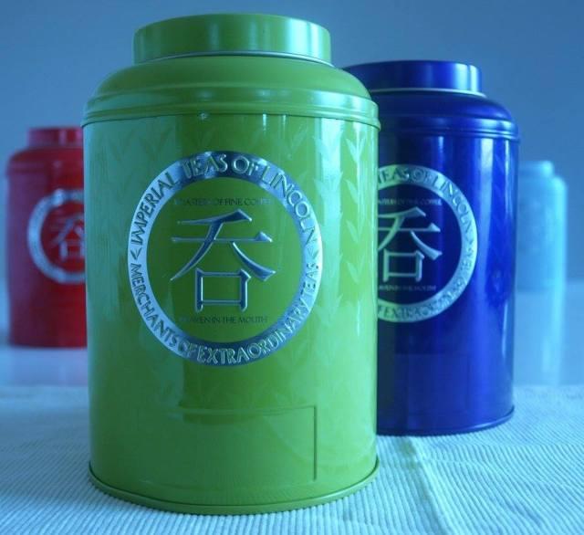 Tea caddies from Imperial Teas