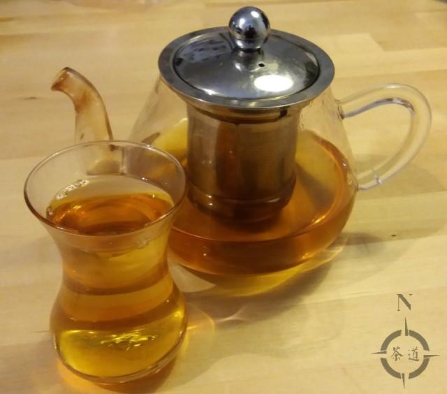 Turkish tea glass and pot