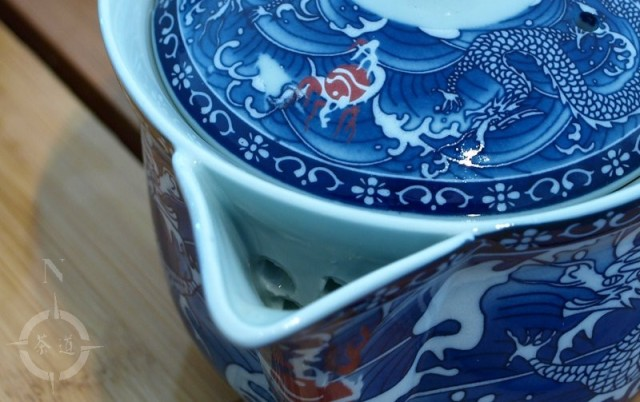 Blue dragon motif cebei