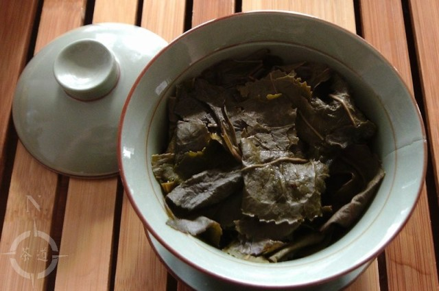 steeped tea leaves