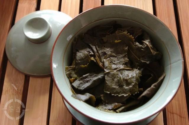 steeped tea leaves