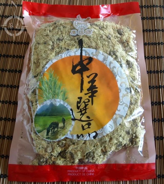 a packet of dried chrysanthemum flowers