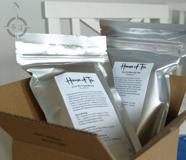 "a delivery from ""House of Tea"""