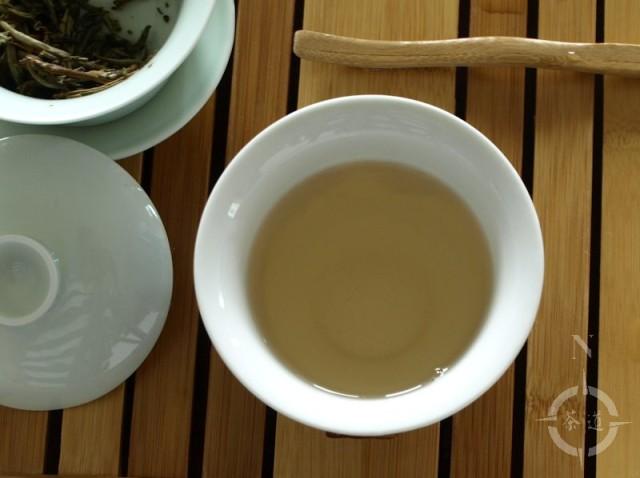 Silver Needle tea in a gaiwan