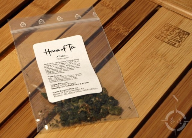 "a sample of Oolong tea from ""House of Tea"""