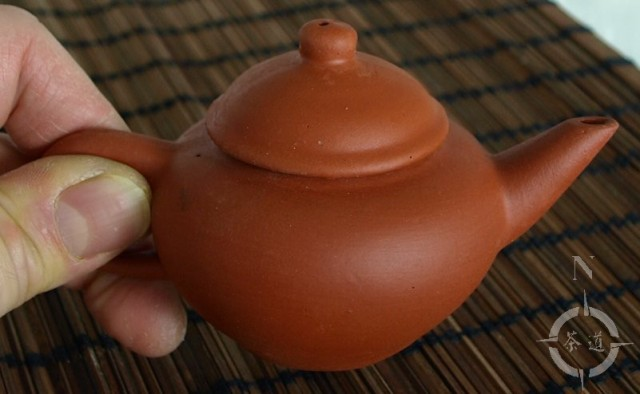 small clay teapot