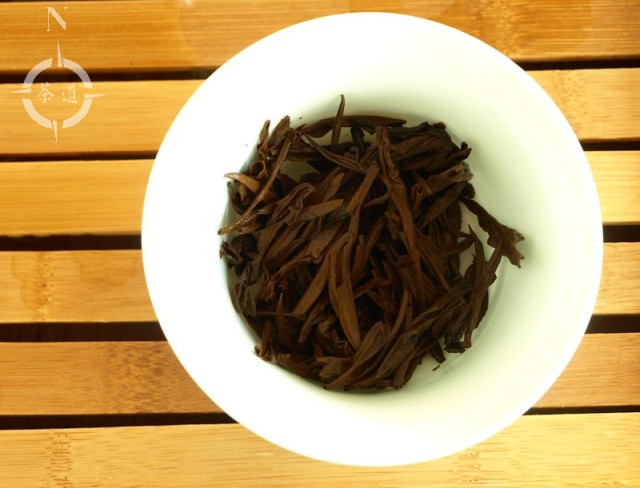fujian tulou old tea - finished leaf
