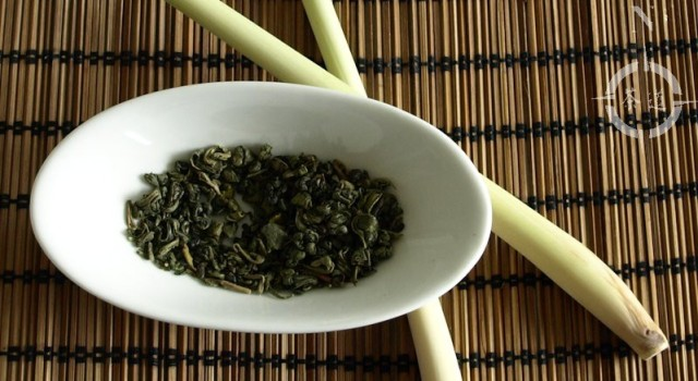 lemongrass and organic green gunpowder tea