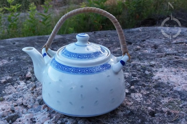 teapot on cliff
