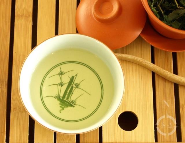 A cup of Da Yu Ling tea