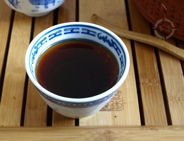 a cup of Tulin Tea Factory 2008 Shou Tuo