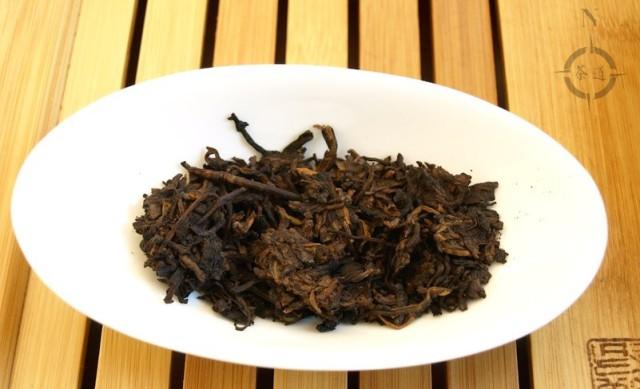 Tulin Tea Factory 2008 Shou Tuo - dry leaf