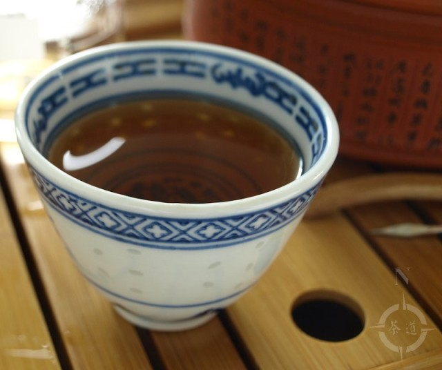 a cup of 2015 Bancha Goishicha - gaiwan version