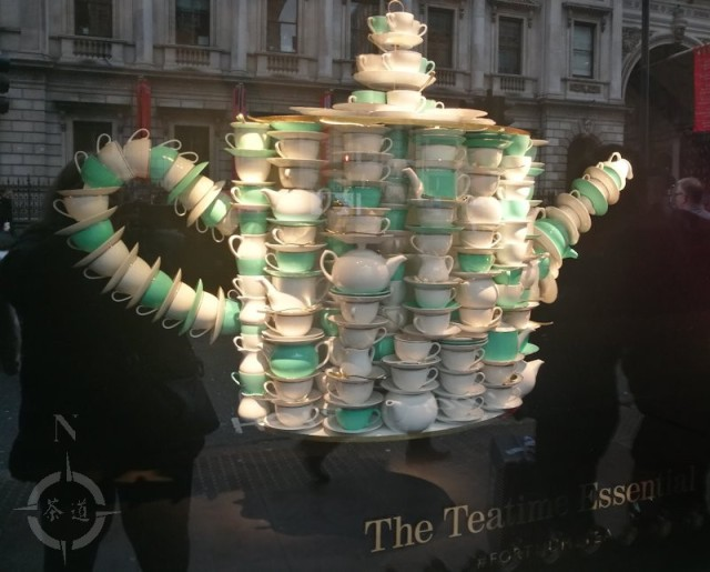 Fortnum and Masons tea window display