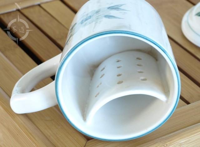 Chinese tea mug - filter view