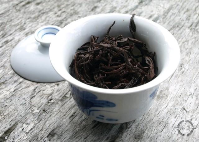 Fujian Zhangping Shui Xian Mini Cake - used leaves