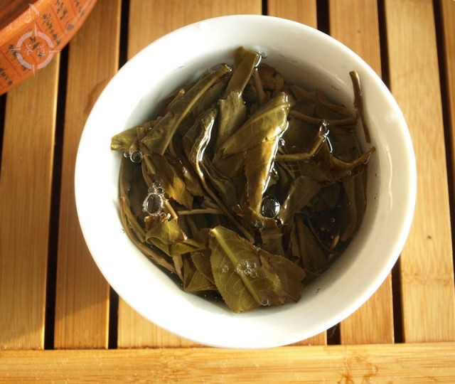 2017 Spring Gao Shan Da Shu - leaves in gaiwan