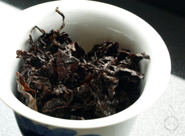 gaba oolong - used leaves