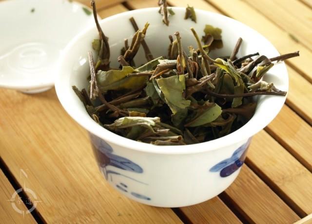 House of Tea Bai Mu Dan King - used leaves