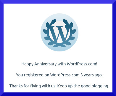 3 years on WP