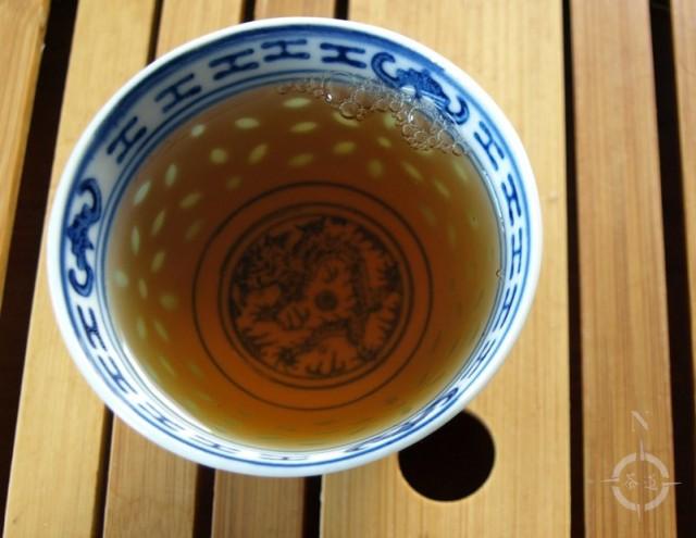 Vietnam Suoi Giang Black Wild Tea - a cup of