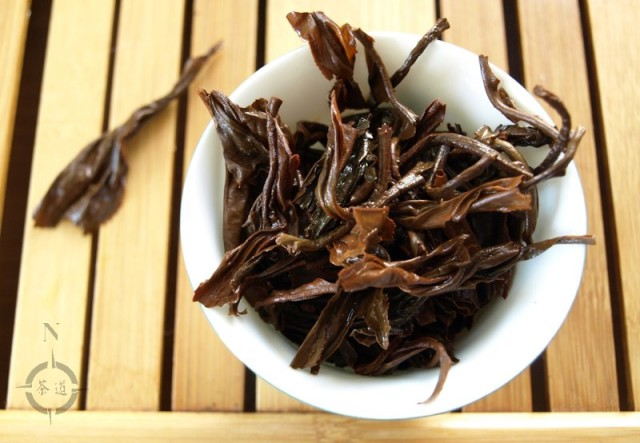 Vietnam Suoi Giang Black Wild Tea - used leaf in gaiwan