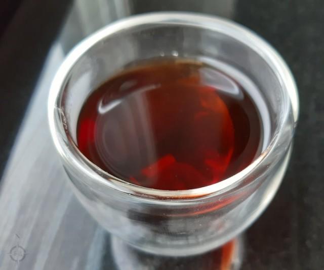 2008 Jia Cang Shu Puerh - a cup of