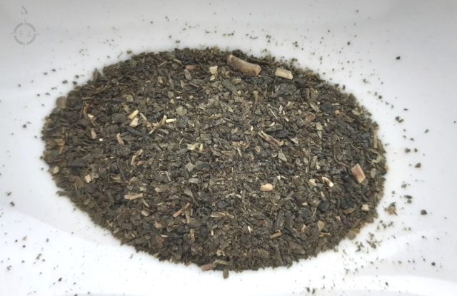 YMY sencha teabag - dry leaf