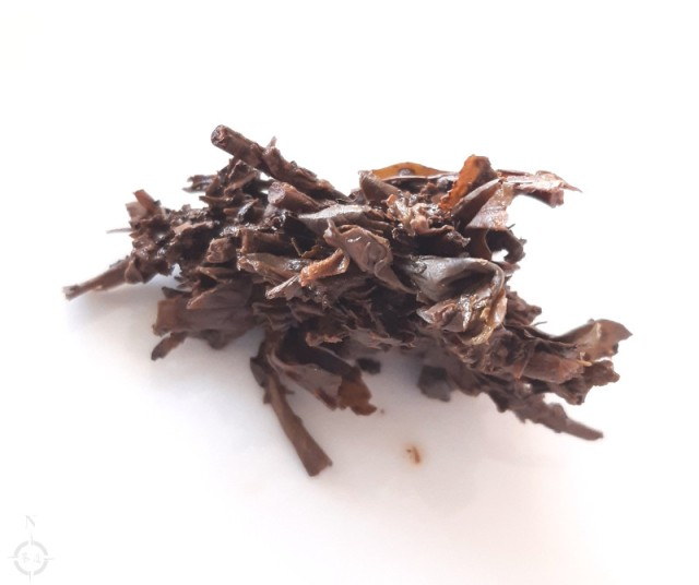 a clump of sheng pu-erh tea