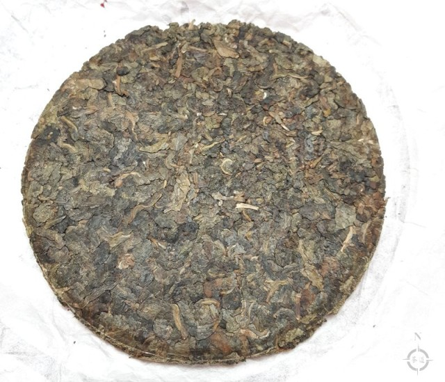 2009 aged pressed oolong - cake