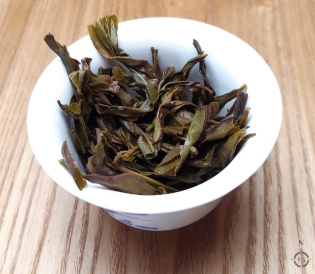 Feng Huang Ya Shi Dancong - used leaves in gaiwan