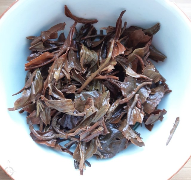 Assam Oolong - used leaves