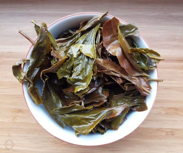 Taiwan Gaba Green Tea - used leaves